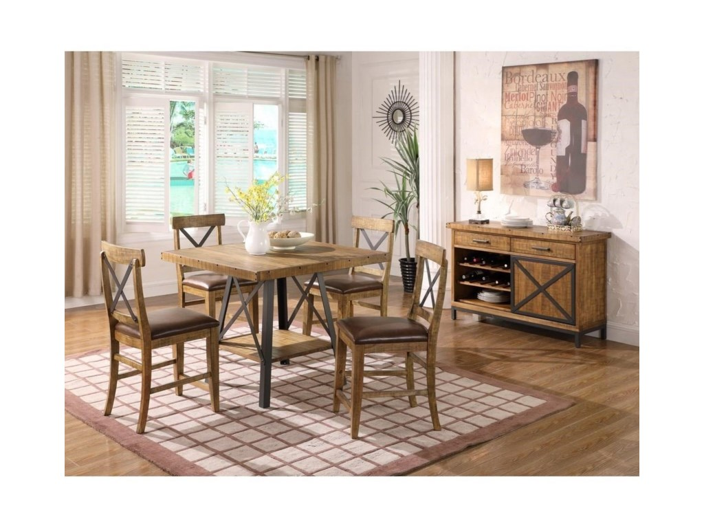 Emerald ChandlerX-Back Upholstered Barstool