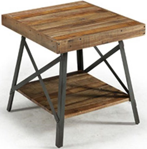 Emerald Andler End Table with Shelf