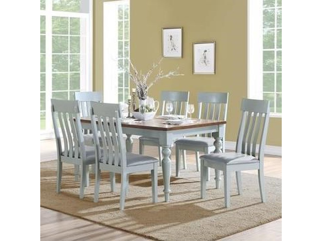 Emerald Cliff Haven7-Piece Dining Table and Chair Set