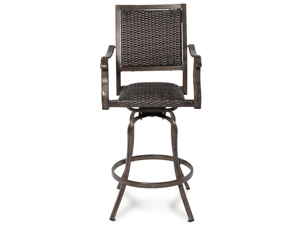 Emerald FlameOutdoor Wicker Barstool
