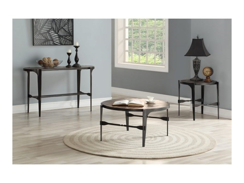 Emerald Franklin's ForgeIndustrial End Table