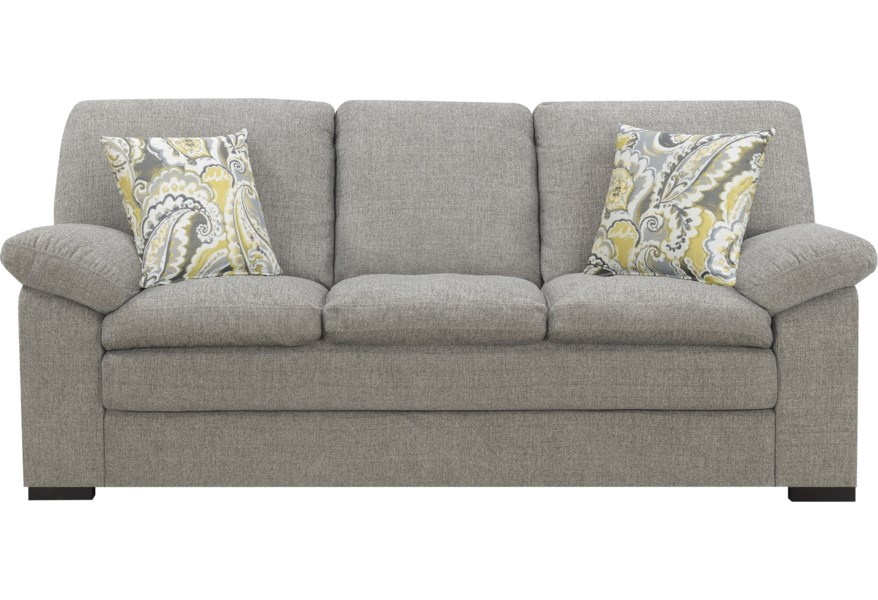 Grandview Transitional Sofa With 2 Accent Pillows By Emerald At Wilson S Furniture