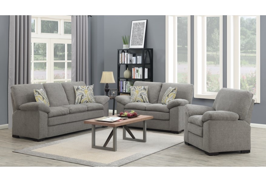Grandview Transitional Sofa with 2 Accent Pillows by Emerald at Wilson\'s  Furniture