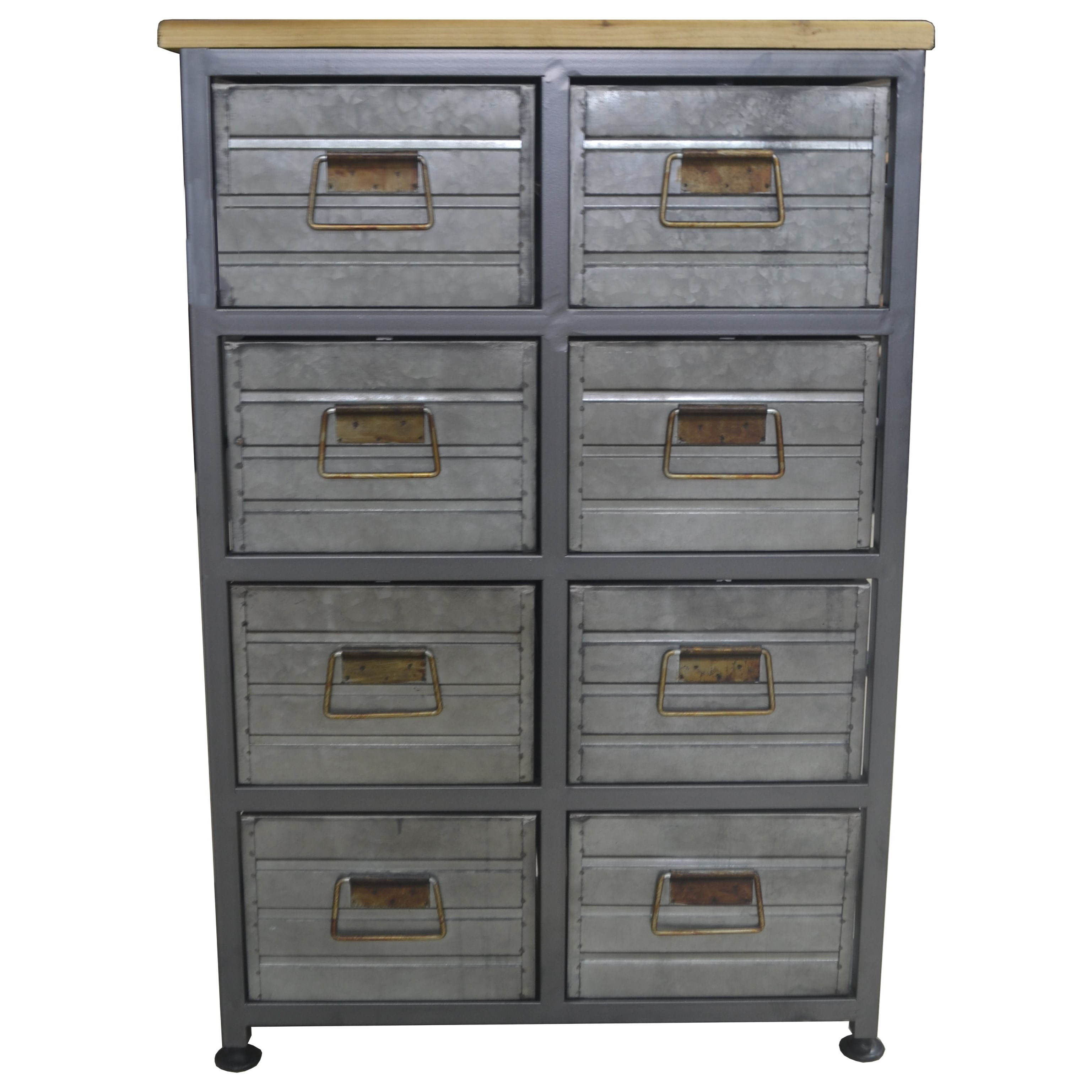 Metal 8-Drawer Accent Cabinet