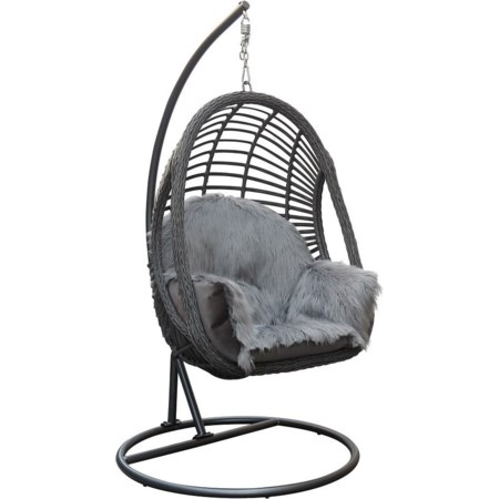 Basket Chair with Cushion