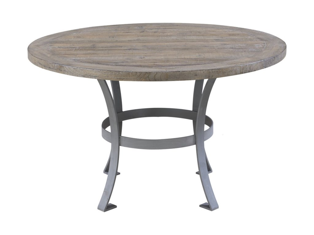 Emerald InterludeRound Dining Table with Metal Base