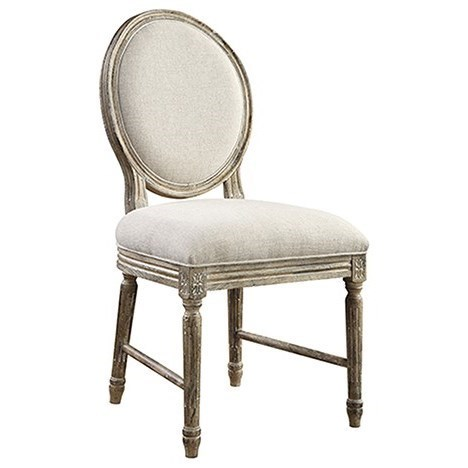 Emerald Interlude Side Chair With Upholstered Seat And Oval Back