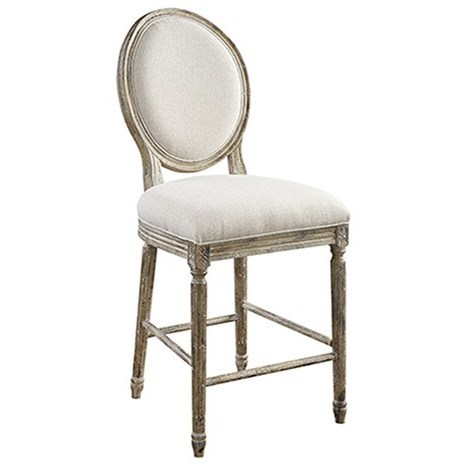 Emerald Interlude D560 24 Barstool With Upholstered Seat And Full