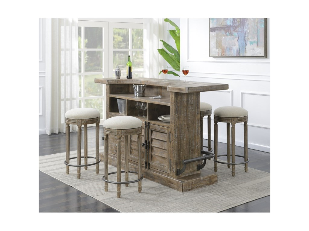 Emerald InterludeBarstool with Upholstered Seat