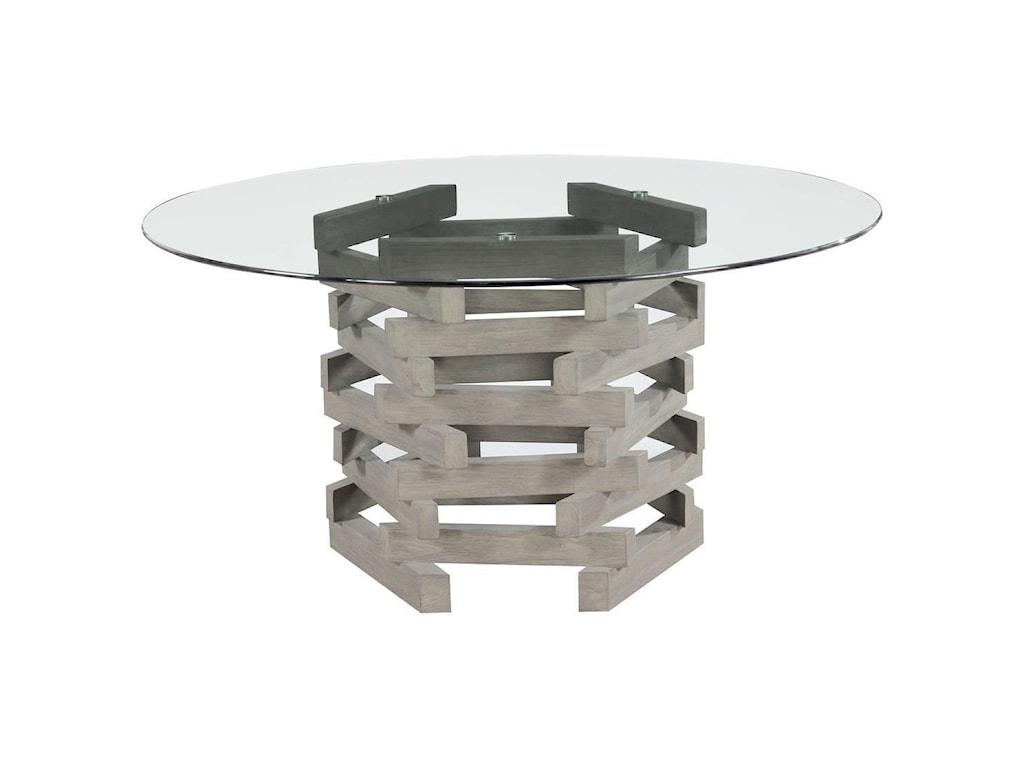 Emerald JengaRound Dining Table