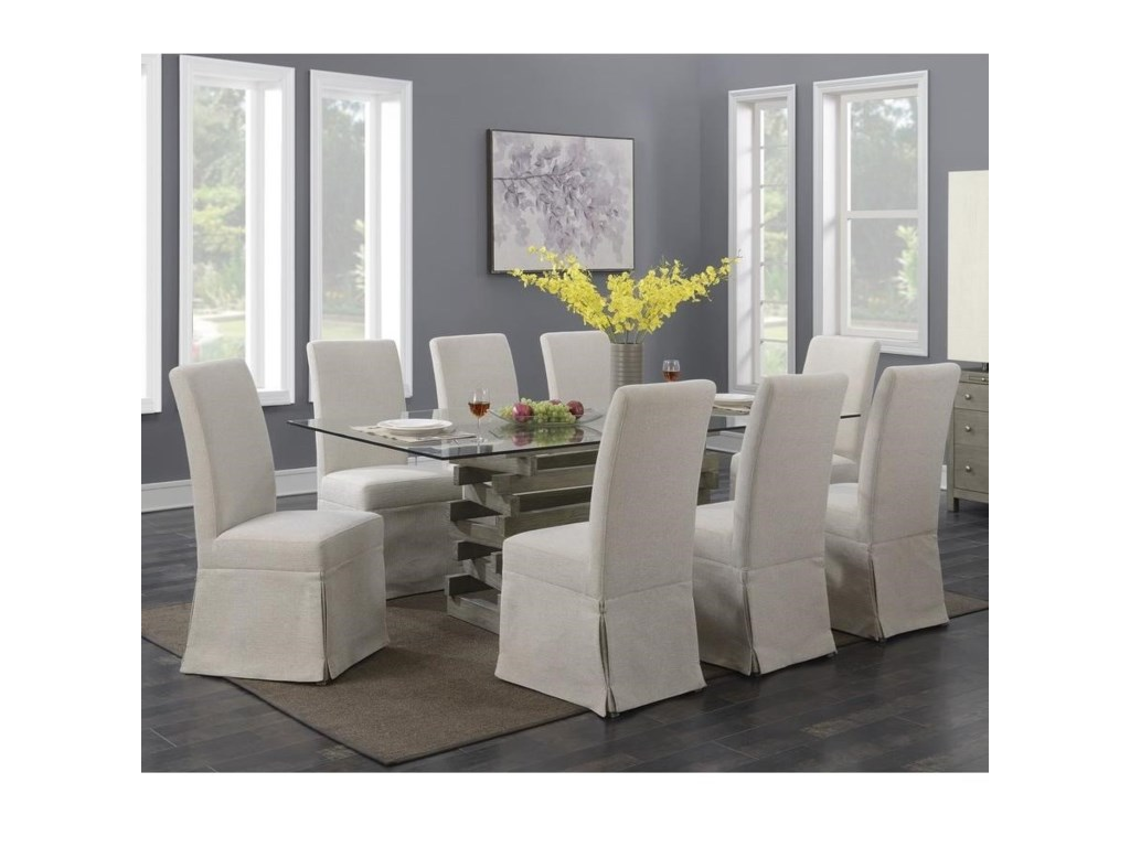 Emerald Jenga9-Piece Dining Table and Chair Set