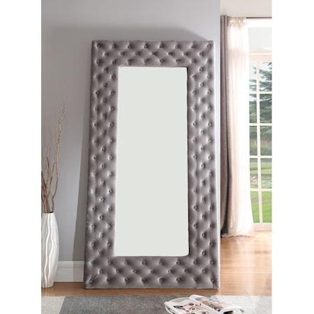 Upholstered Floor Mirror