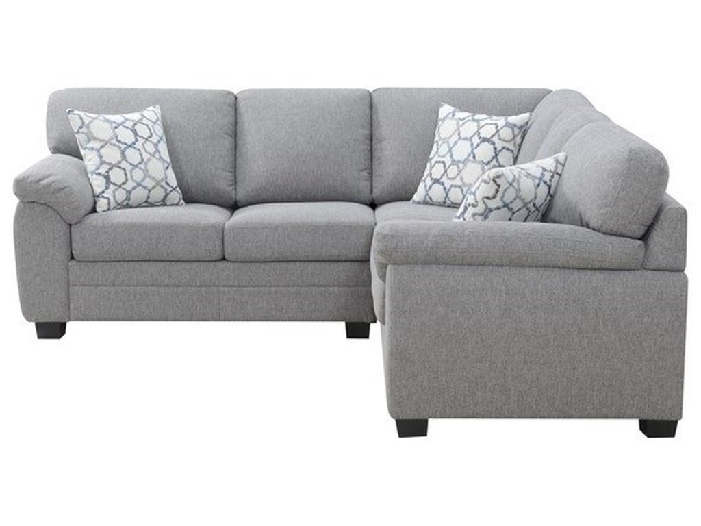Luciana Transitional 2-Piece Sectional Sofa Sleeper with 3 Accent Pillows  by Emerald at Northeast Factory Direct