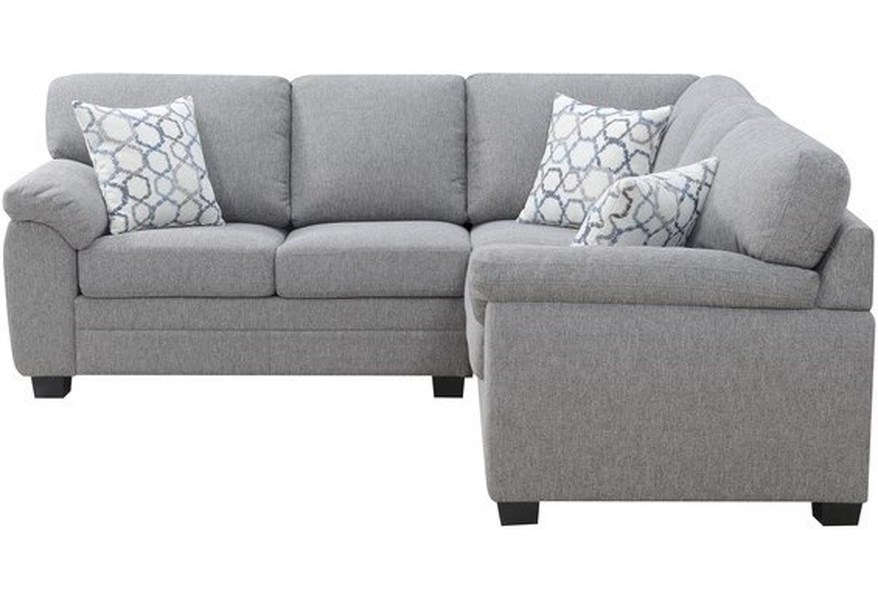 Luciana Transitional 2-Piece Sectional Sofa Sleeper with 3 Accent Pillows  by Emerald at Wilson\'s Furniture