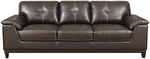 Emerald Marquis Pillow Arm Sofa with Tufted Back