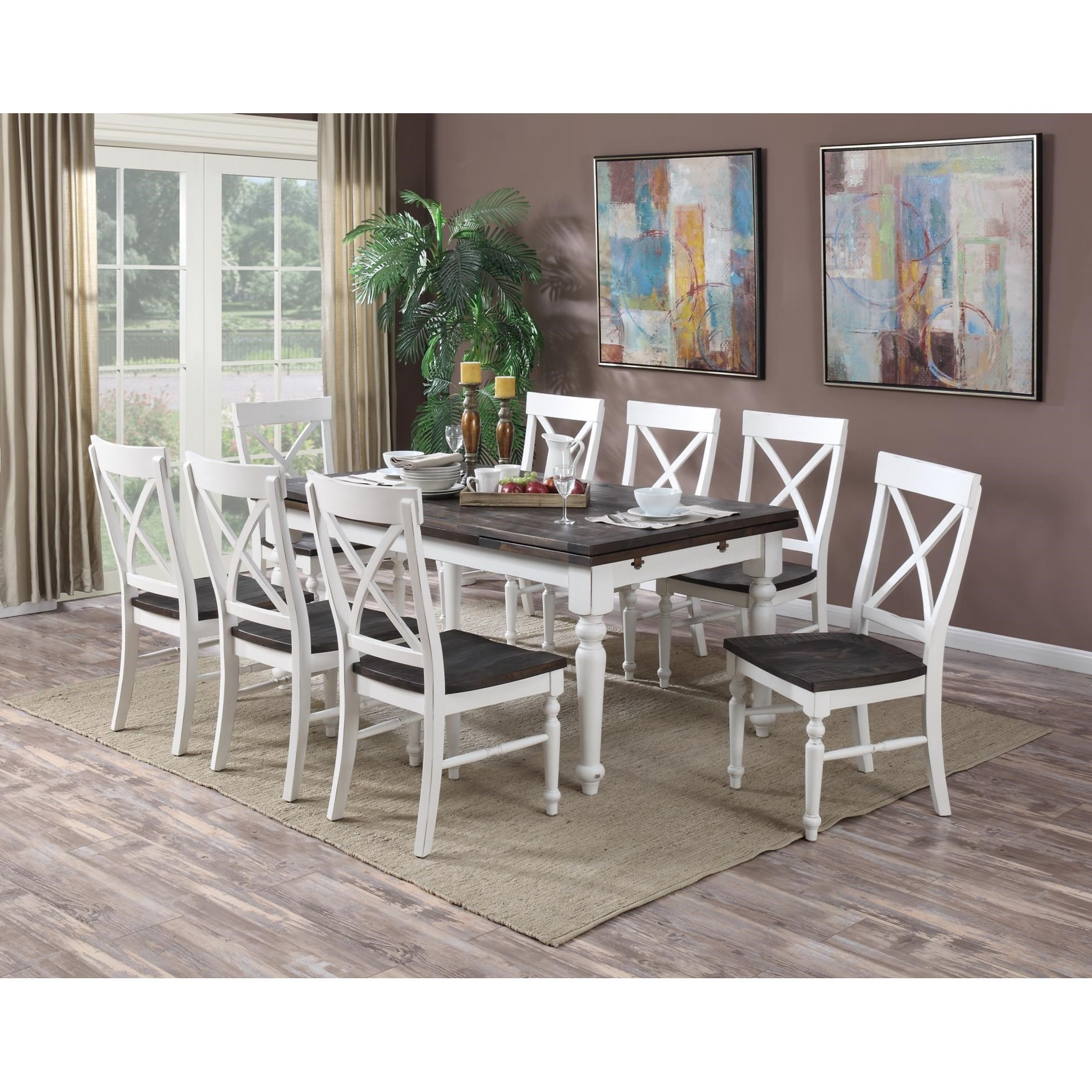 Emerald Mountain Retreat9 Piece Dining Table And Chair Set