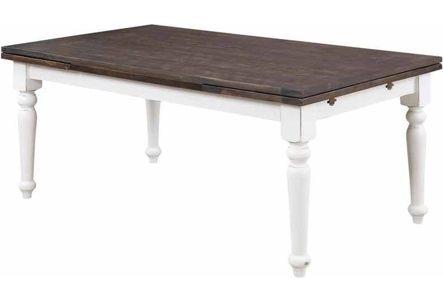 Emerald Mountain Retreat D601 10 Rectangular Extension Dining Leg Table With 2 20 Leaves Northeast Factory Direct Dining Tables