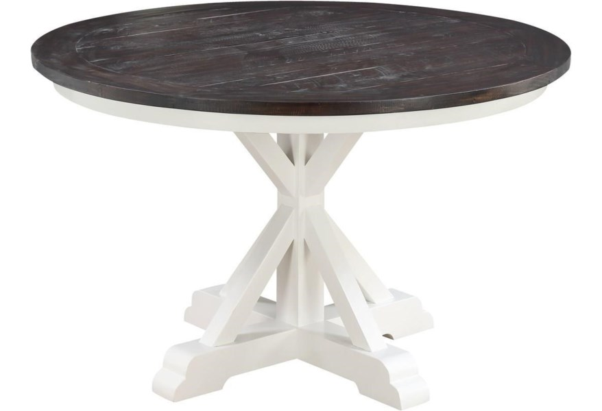 Mountain Retreat 54 Round Dining Table Sadler S Home Furnishings Dining Tables