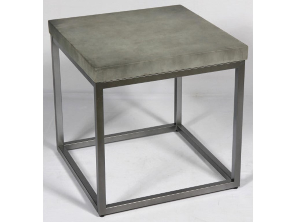 Emerald OnyxConcrete-Finish & Brushed Nickel End Table