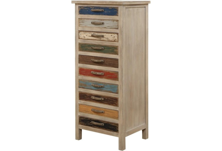 Pablo Accent Cabinet W 10 Drawers