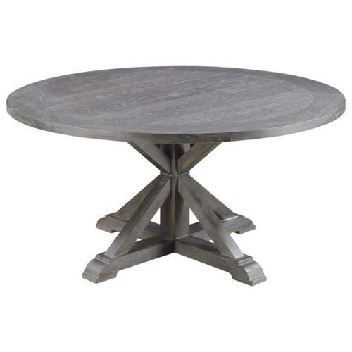 60 Round Dining Table With Double Pedestal Base Paladin By