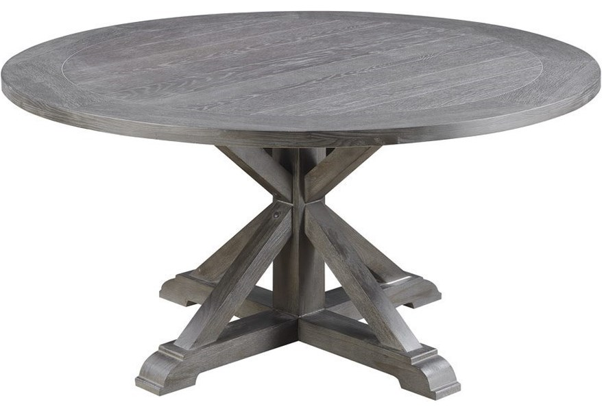 Emerald Paladin 60 Round Dining Table With Double Pedestal Base Wilson S Furniture Dining Tables