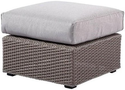 Emerald Reims Square Sectional Ottoman with Cushion