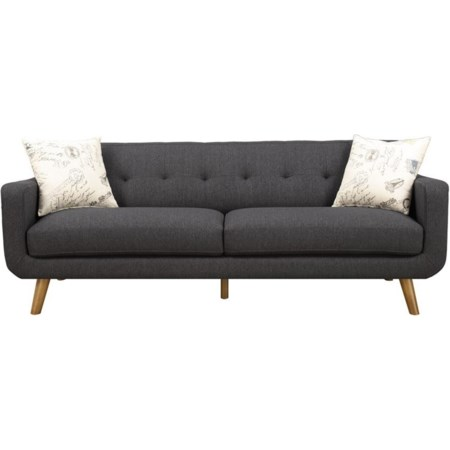 Sofa with 2 Accent Pillows