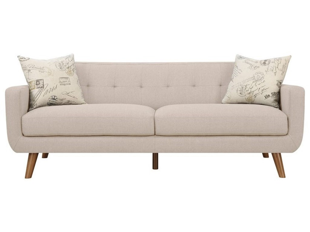 Emerald RemixSofa with 2 Accent Pillows