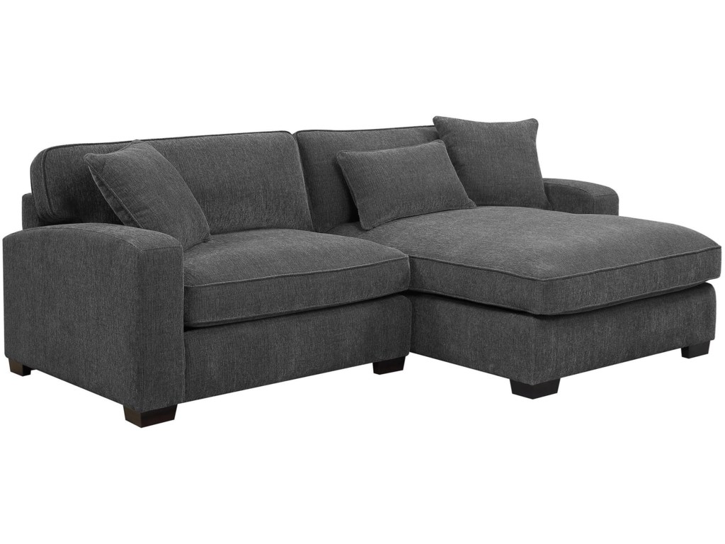 Emerald Reposetwo Piece Sectional Sofa W Raf Chaise