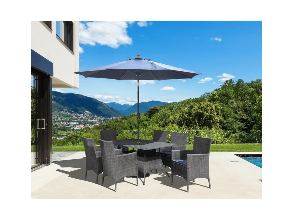 Ridgemonte 8-Piece Outdoor Dining Set with Umbrella by Emerald at Northeast  Factory Direct