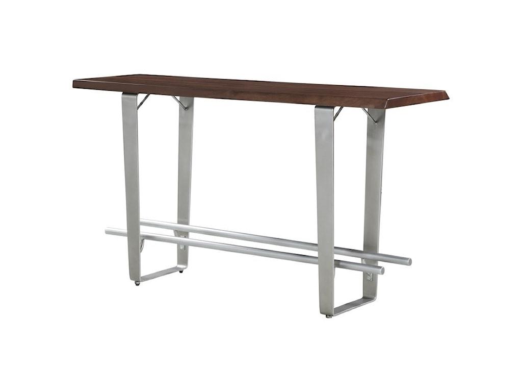 Emerald SommervillePub Table w/ Live Edge Solid Mahogany Top