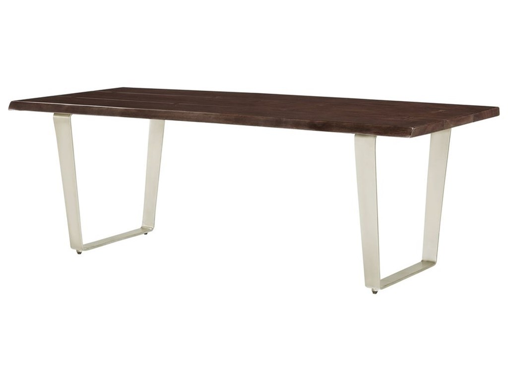 Emerald SommervilleDining Table w/ Live Edge Solid Mahogany Top