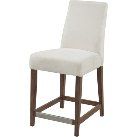 "24"" Stool W/ Upholstered Seat & Back"