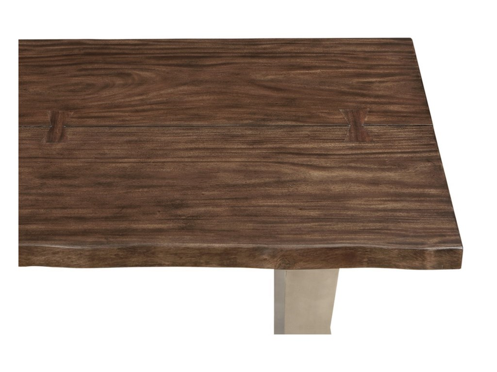 Emerald SommervilleDining Bench w/ Live Edge Solid Mahogany Top