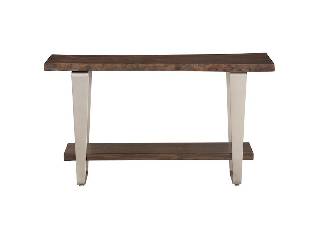 Emerald SommervilleSofa Table w/ Live Edge Solid Mahogany Top