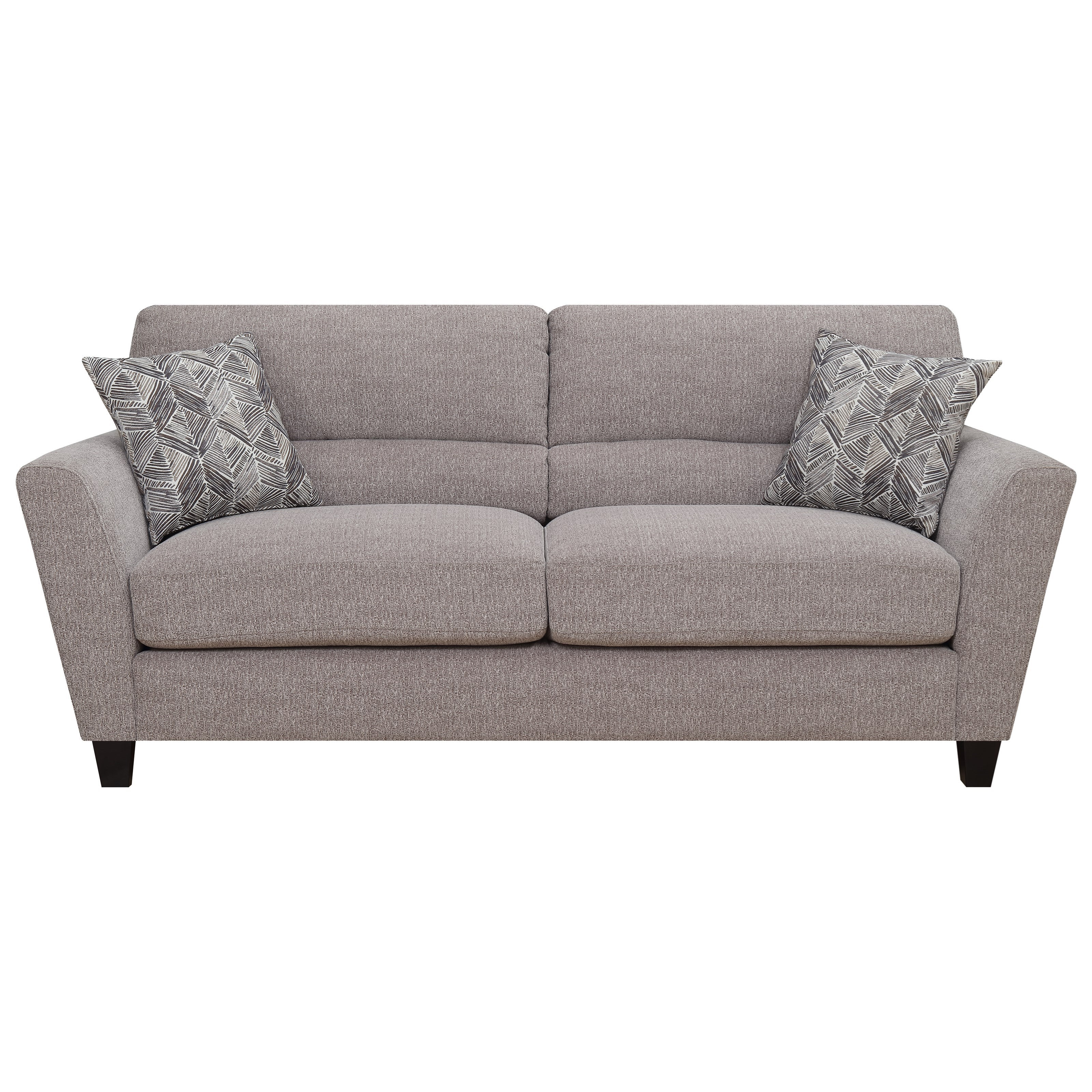 Contemporary Sofa w/ 2 Accent Pillows