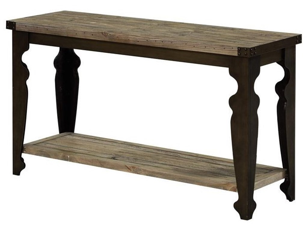 Emerald T559Reclaimed/ Metal Sofa table