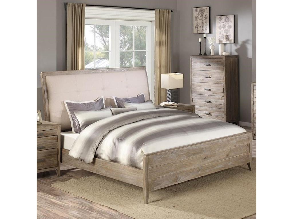 Emerald TorinoQueen Upholstered Bed