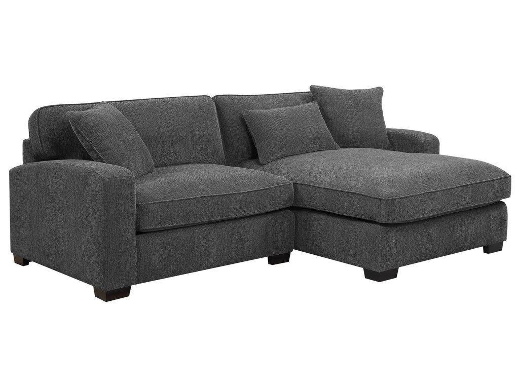 Emerald Reposecharcoal 2 Piece Sectional Sofa