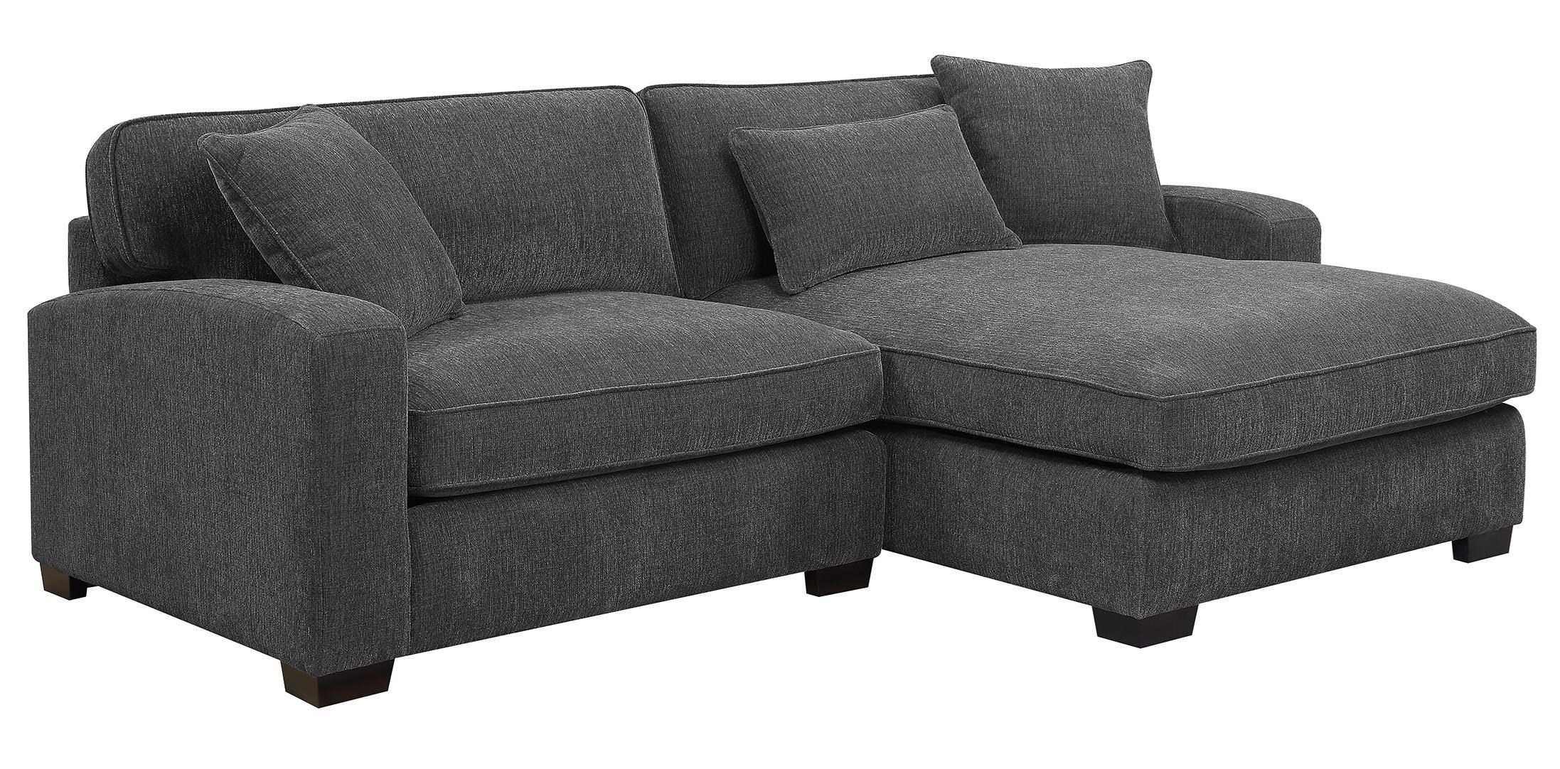 Emerald ReposeCharcoal 2 Piece Sectional Sofa ...