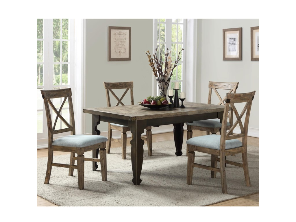 Emerald Valencia5-Piece Table and Chair Set