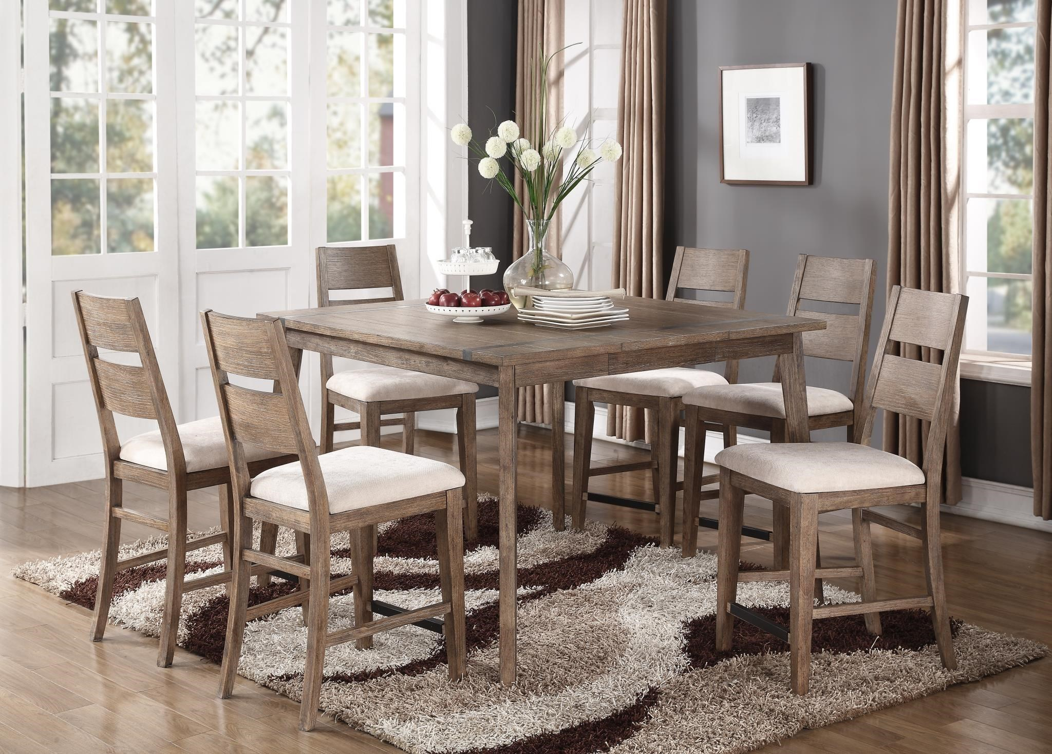 Emerald Viewpoint 7 Piece Gathering Height Dining Set