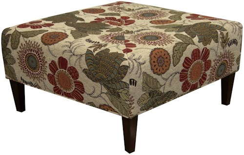 England Steele Sleek and Sophisticated, Square Ottoman with Modern Style