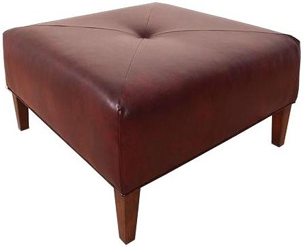 England Leala Sleek and Sophisticated, Square Ottoman with Modern Style