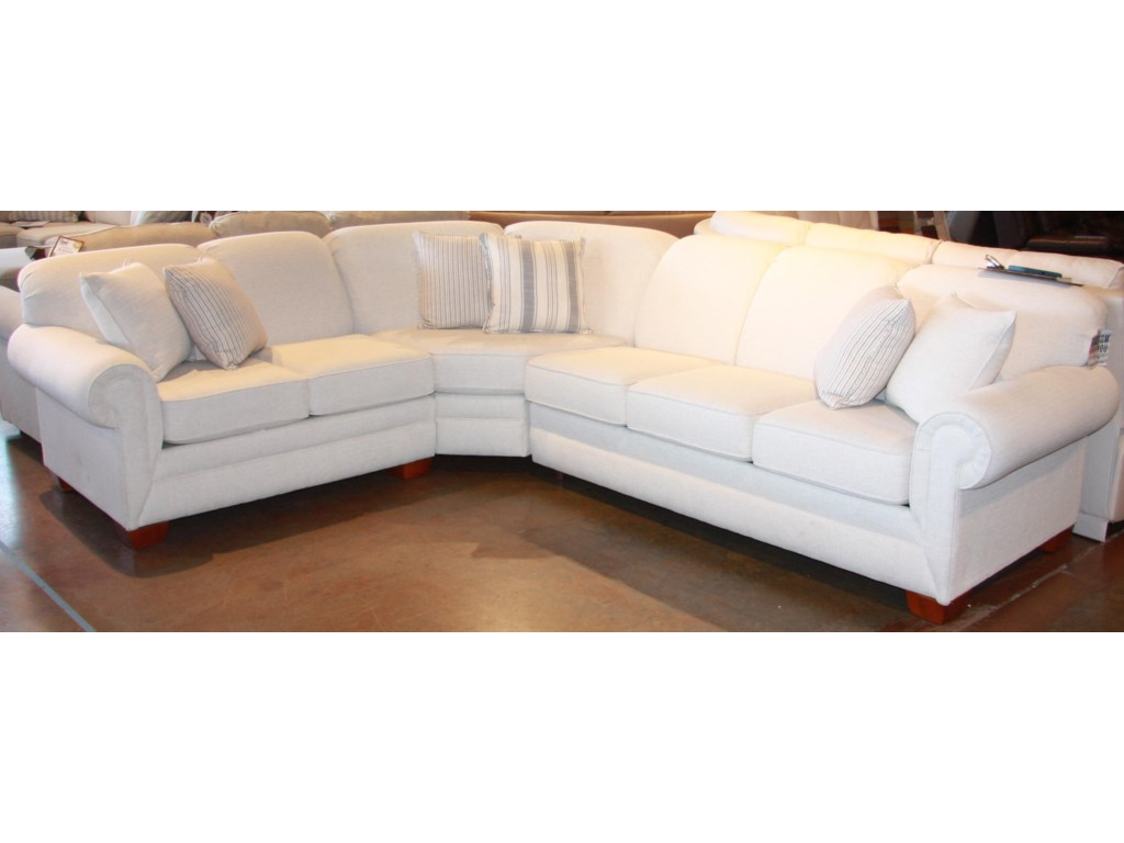 England Monroe3 PC Sectional with Queen Sleeper