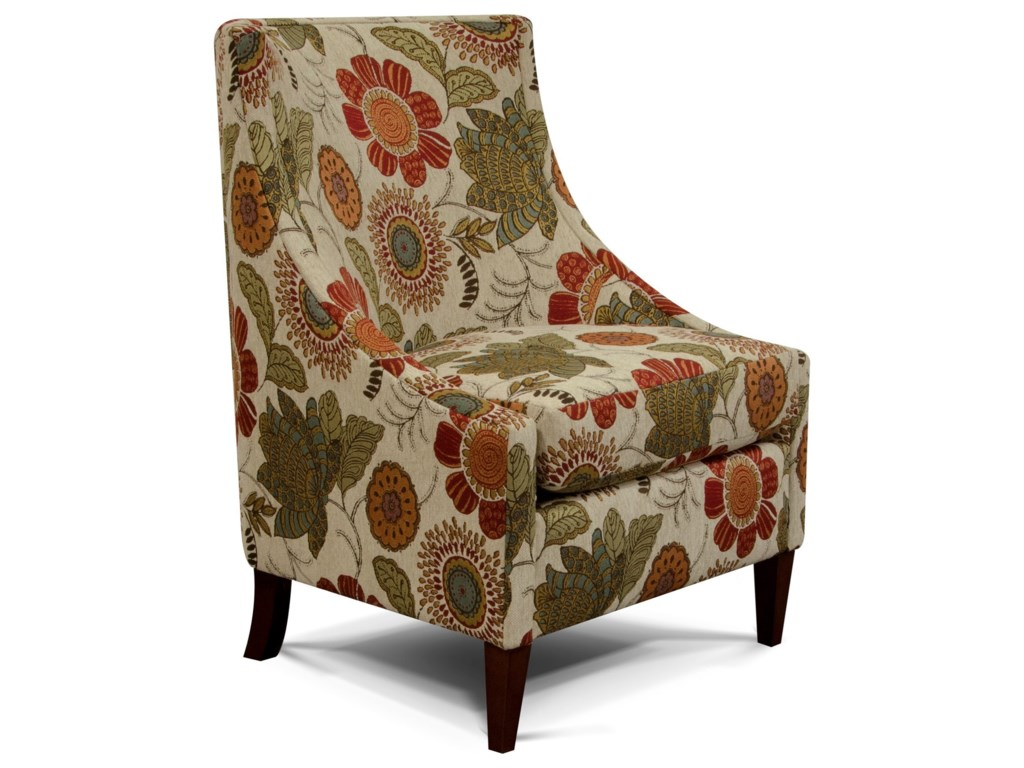 England 2230 Devin Transitional Wing Chair with Contemporary ...
