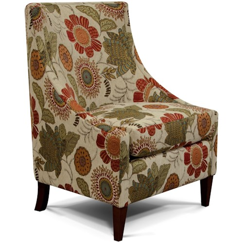 England 2230 Devin Transitional Wing Chair with Contemporary Living Room Furniture Style