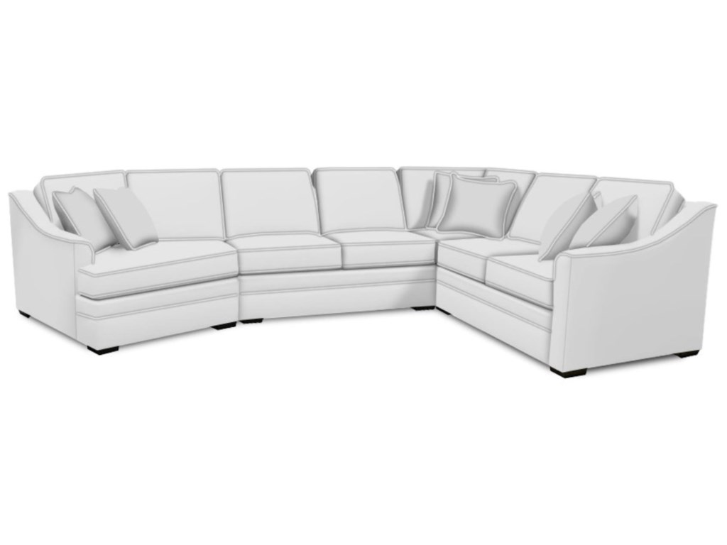 England Thomas3 PC Sectional with Cuddler