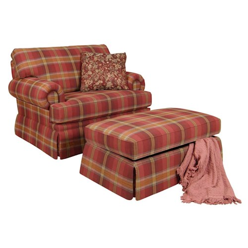 England Clare Accent Chair and Skirted Ottoman